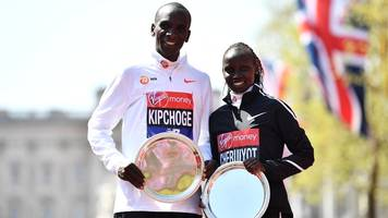 london marathon: kenyans kipchoge and cheruiyot celebrate double win