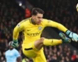 Man City keeper Ederson: 'I want to score before the end of the season'
