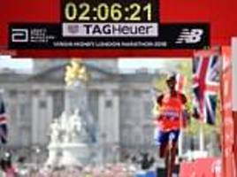 london marathon farce as runners including sir mo farah are given three finish times