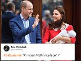 Royal baby name suggestions go wild on Twitter