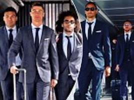 cristiano ronaldo and real madrid jet off to face bayern munich