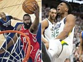 nba play-offs round-up: rockets and jazz storm into 3-1 leads