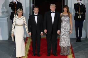 trump white house's first state dinner high on pomp, low on star wattage