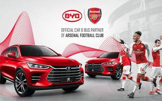 arsenal signs deal with warren buffett-backed electric car firm byd