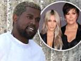 kanye west embroiled in 'explosive fights' with kris jenner over damaging kim kardashian's brand