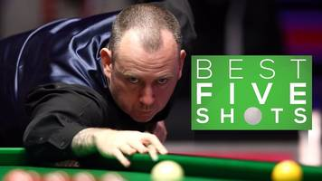 snooker world championship: mark williams shows class against jimmy robertson