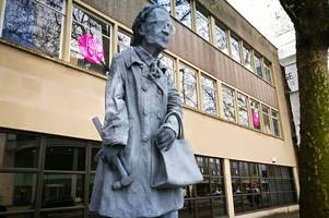 office workers want mystery 10-ft statue of old lady 'rebel ruth' to stay in bristol