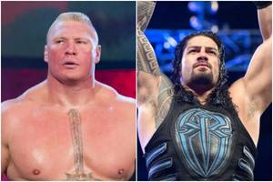 wwe 'greatest royal rumble': roman reigns spears brock lesnar through steel cage wall (video)