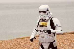 redhill running stormtrooper believes he has set a new world record at the brighton marathon
