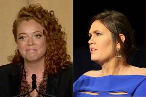 watch michelle wolf roast sarah sanders to her face at white house correspondents' dinner (video)