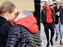 gigi hadid and zayn malik picture exclusive: the couple prove to be on again with passionate kiss