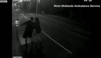 cctv released following attack on ambulance in telford