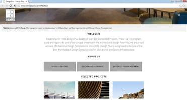 design plus relaunches its website