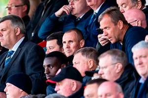 rangers striker kenny miller pictured in the crowd ... at hamilton