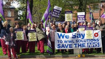 nhs staff vote to strike over jobs transfer plan