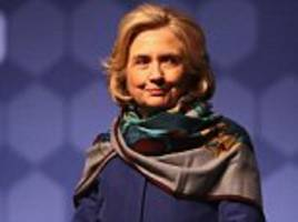 hillary clinton wears a scarf again after suggestions she has a back brace