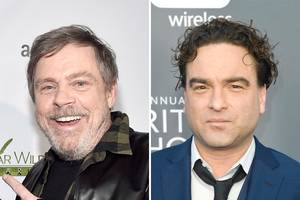 'big bang theory' star johnny galecki says mark hamill has a surprising 'roseanne' fixation (video)