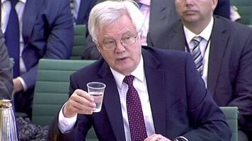 david davis rejects northern ireland affairs committee invite