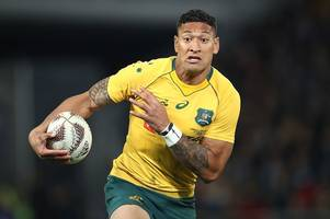 israel folau branded a religious lunatic by former australian rugby star as homophobia row escalates