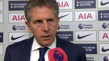 tottenham 5-4 leicester: claude puel says foxes deserved victory against spurs