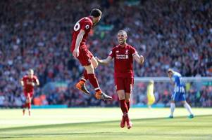 Andy Robertson bags first Liverpool goal in rout against Brighton