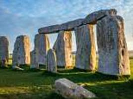 the gigantic stones of stonehenge were moved there by glaciers