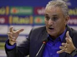 brazil boss tite names 23-man squad for world cup in russia