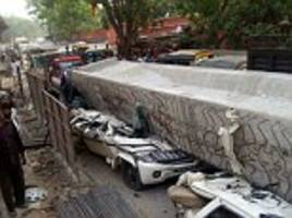 seven dead, 30 feared trapped after part of flyover...