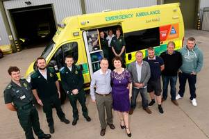 mother reunites with ambulance crew who saved her life after heart attack during 'beast from the east' storm