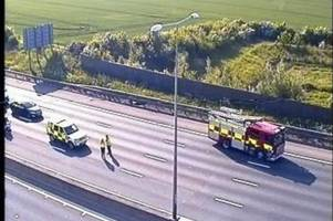 m25 dartford crossing traffic held after car crash leading up to tunnel