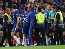 chelsea hit with £20,000 fa fine for failing to control their players in huddersfield draw