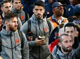 Lionel Messi and Co arrive in South Africa as Barcelona look ahead to Nelson Mandela Centenary Cup