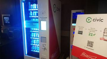 civic demos proof of concept with beer vending machines, launches id codes