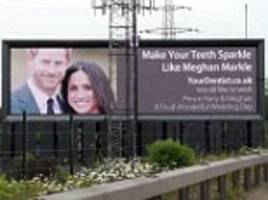 Harley Street dental firm uses Meghan Markle on a billboard