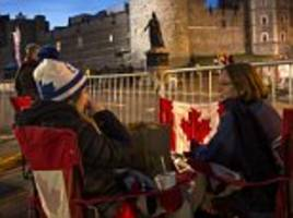 Royal super-fans camp out at Windsor Castle ahead of royal wedding