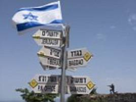 sirens warn of incoming rocket fire in israeli-controlled golan heights