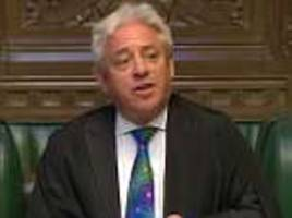 John Bercow alleged to have called cabinet minister a 'stupid woman'