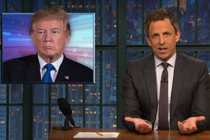 seth meyers: trump only kept israel promise 'by accident' (video)