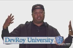 watch a fake 'daily show' ad for a fraudulent for-profit college (video)