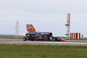 bloodhound supersonic car's land speed record bid hit by 'funding' setback