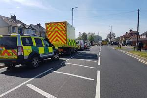 Man treated for burns after Waltham Abbey fire takes hold of row of houses
