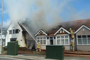 waltham abbey fire: first pictures show plumes of black smoke as fire takes hold of two houses