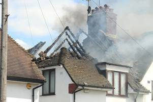 roofs of three waltham abbey houses completely destroyed in fire