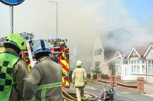 waltham abbey house fire still burning after two and a half hours