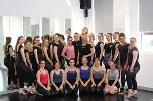strictly come dancing star visits burton students for dance master class