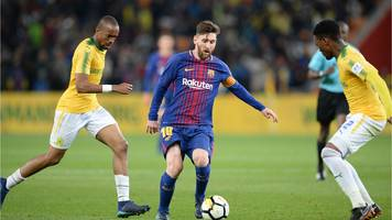 Lionel Messi fever hits South Africa as Barcelona beat Mamelodi