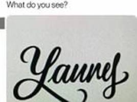 now there is a 'yanny' versus 'laurel' text visual