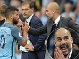 sergio aguero insists he's on the same page as guardiola after a frustrating first season together