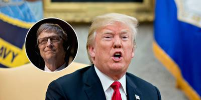 bill gates said that trump speaks in the third-person in leaked video from a gates foundation meeting