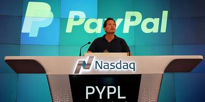 paypal is gaining ground after announcing its $2.2 billion acquisition of a european competitor of square (pypl, sq)